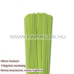 3mm zelená májová papierové prúžky na quilling (120 ks, 49 cm)