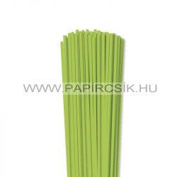 4mm zelená májová papierové prúžky na quilling (110 ks, 49 cm)