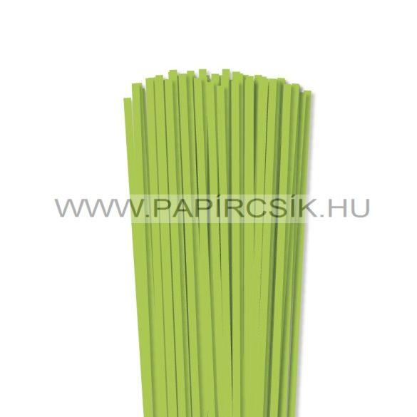 5mm zelená májová papierové prúžky na quilling (100 ks, 49 cm)
