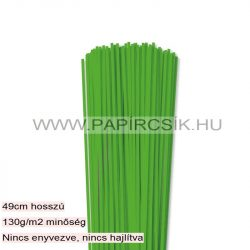 3mm trávovo zelená papierové prúžky na quilling (120 ks, 49 cm)