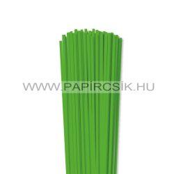 4mm trávovo zelená papierové prúžky na quilling (110 ks, 49 cm)