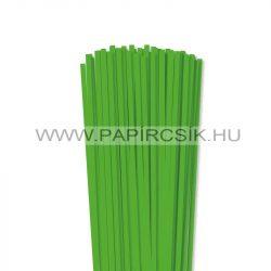 5mm trávovo zelená papierové prúžky na quilling (100 ks, 49 cm)