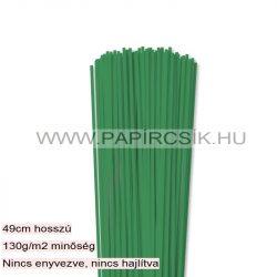 3mm machovo zelená papierové prúžky na quilling (120 ks, 49 cm)