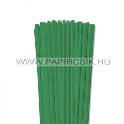 6mm machovo zelená papierové prúžky na quilling (90 ks, 49 cm)
