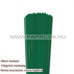 3mm tmavozelená papierové prúžky na quilling (120 ks, 49 cm)