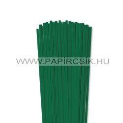 5mm tmavozelená papierové prúžky na quilling (100 ks, 49 cm)