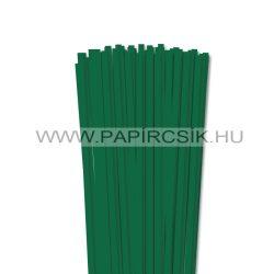 6mm tmavozelená papierové prúžky na quilling (90 ks, 49 cm)