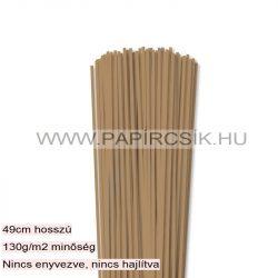 3mm svetlohnedá papierové prúžky na quilling (120 ks, 49 cm)