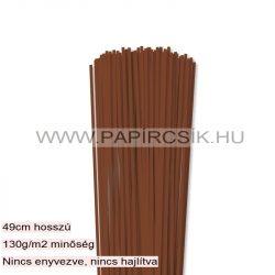 3mm hnedá papierové prúžky na quilling (120 ks, 49 cm)