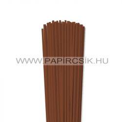 4mm hnedá papierové prúžky na quilling (110 ks, 49 cm)