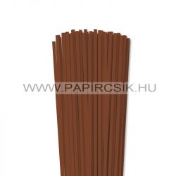 5mm hnedá papierové prúžky na quilling (100 ks, 49 cm)