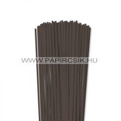 4mm tmavohnedá papierové prúžky na quilling (110 ks, 49 cm)