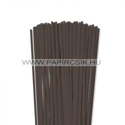 5mm tmavohnedá papierové prúžky na quilling (100 ks, 49 cm)