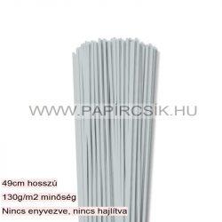 3mm svetlosivá papierové prúžky na quilling (120 ks, 49 cm)