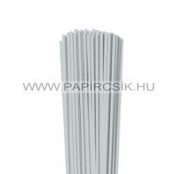 4mm svetlosivá papierové prúžky na quilling (110 ks, 49 cm)