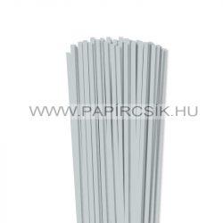 5mm svetlosivá papierové prúžky na quilling (100 ks, 49 cm)