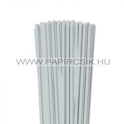 6mm svetlosivá papierové prúžky na quilling (90 ks, 49 cm)
