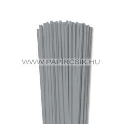 5mm kamienkovo šedá papierové prúžky na quilling (100 ks, 49 cm)