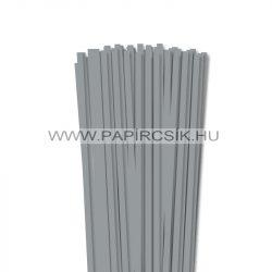 6mm kamienkovo šedá papierové prúžky na quilling (90 ks, 49 cm)