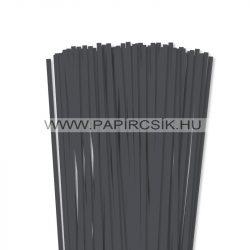 6mm antracitová papierové prúžky na quilling (90 ks, 49 cm)