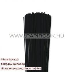 3mm čierna papierové prúžky na quilling (120 ks, 49 cm)