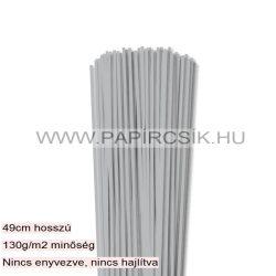 3mm strieborná papierové prúžky na quilling (120 ks, 49 cm)