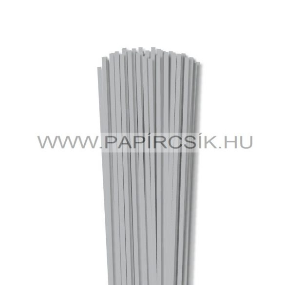 4mm strieborná papierové prúžky na quilling (110 ks, 49 cm)