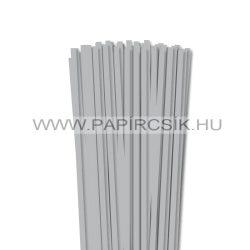 6mm strieborná papierové prúžky na quilling (90 ks, 49 cm)