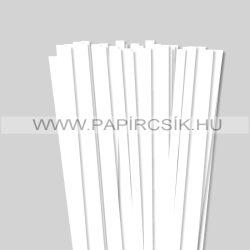 10mm Biela (Snehobiela) papierové prúžky na quilling (50 ks, 49 cm)