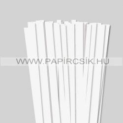 10mm Biela perleť (krémováova) papierové prúžky na quilling (50 ks, 49 cm)