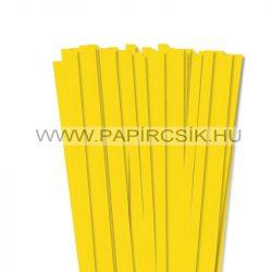 10mm žltá papierové prúžky na quilling (50 ks, 49 cm)