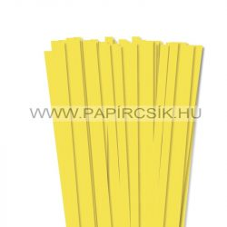 10mm citrónová papierové prúžky na quilling (50 ks, 49 cm)