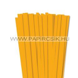 10mm tmavožltá papierové prúžky na quilling (50 ks, 49 cm)