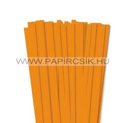 10mm okrová papierové prúžky na quilling (50 ks, 49 cm)