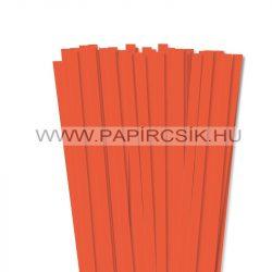 10mm oranžová papierové prúžky na quilling (50 ks, 49 cm)