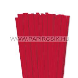 10mm žiarivo červená papierové prúžky na quilling (50 ks, 49 cm)