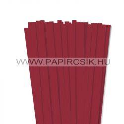 10mm tmavo červená papierové prúžky na quilling (50 ks, 49 cm)