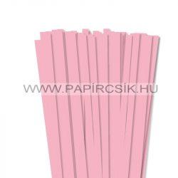 10mm ružová papierové prúžky na quilling (50 ks, 49 cm)