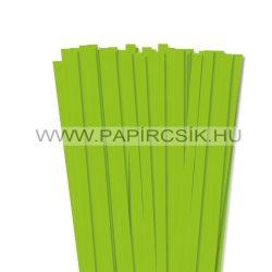 10mm svetlozelená papierové prúžky na quilling (50 ks, 49 cm)