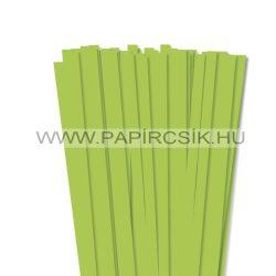 10mm zelená májová papierové prúžky na quilling (50 ks, 49 cm)
