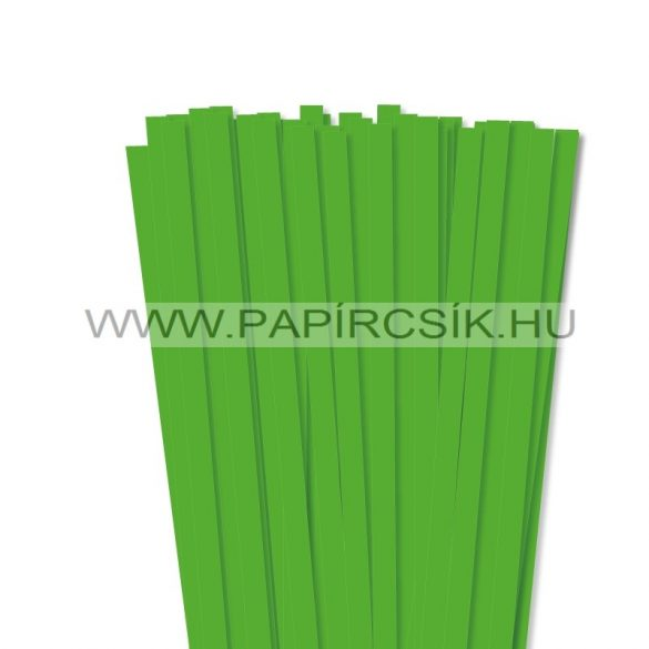 10mm trávovo zelená papierové prúžky na quilling (50 ks, 49 cm)