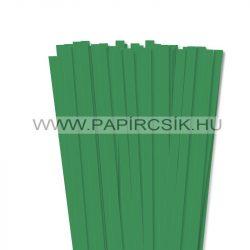 10mm machovo zelená papierové prúžky na quilling (50 ks, 49 cm)