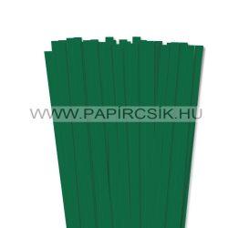 10mm tmavozelená papierové prúžky na quilling (50 ks, 49 cm)