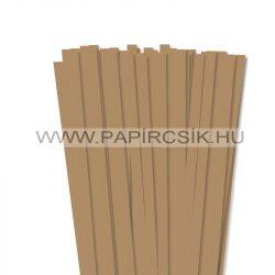 10mm svetlohnedá papierové prúžky na quilling (50 ks, 49 cm)