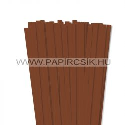 10mm hnedá papierové prúžky na quilling (50 ks, 49 cm)