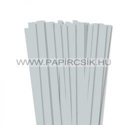 10mm svetlosivá papierové prúžky na quilling (50 ks, 49 cm)