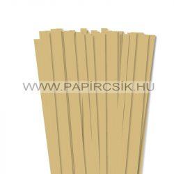 10mm zlatá papierové prúžky na quilling (50 ks, 49 cm)