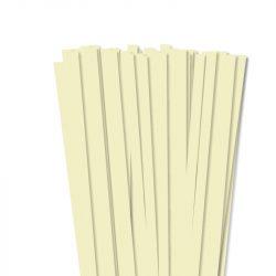 10mm Vanilia papierové prúžky na quilling (50 ks, 49 cm)