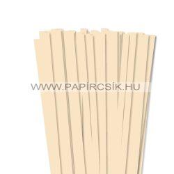 10mm krémová papierové prúžky na quilling (50 ks, 49 cm)