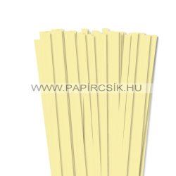 10mm svetložltá papierové prúžky na quilling (50 ks, 49 cm)